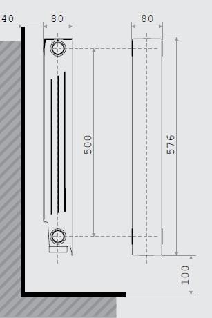 LIPOVICA tagos öntvény alumínium radiátor – PLANO 350/500/600/700